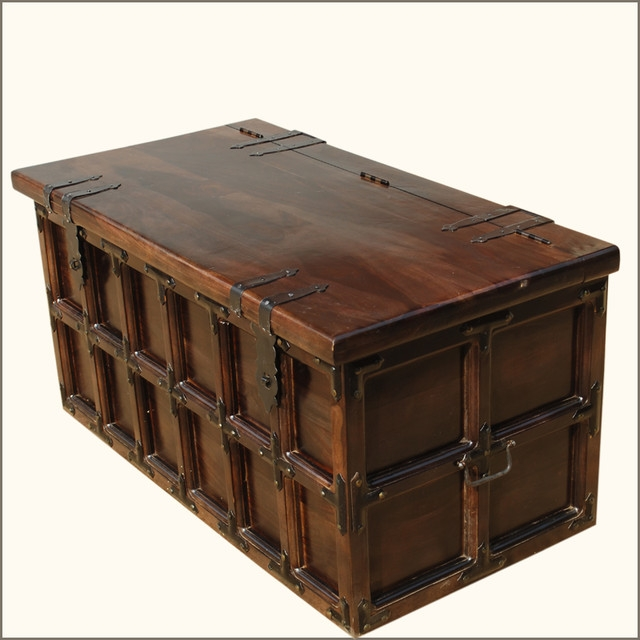 Awesome Top Wooden Trunks Coffee Tables Intended For Rustic Trunk Coffee Table (Image 8 of 40)