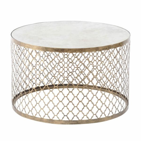 Awesome Trendy Antique Mirrored Coffee Tables Within Gold Mirrored Coffee Table Tray Vanities Decoration (View 34 of 40)