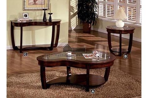 Awesome Trendy Cherry Wood Coffee Table Sets Intended For Dark Wood Coffee Table Set (View 6 of 50)
