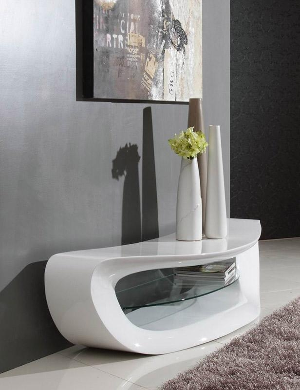 Awesome Trendy Contemporary White TV Stands Pertaining To Crest Contemporary White Tv Stand (Image 7 of 50)