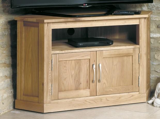 Awesome Trendy Corner Oak TV Cabinets Inside Henley Oak Corner Television Cabinet (Image 9 of 50)