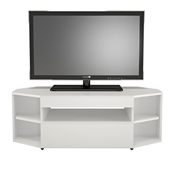 Awesome Trendy Cornet TV Stands Within Amazon Nexera 226103 Blvd Corner Tv Stand White Kitchen (View 48 of 50)