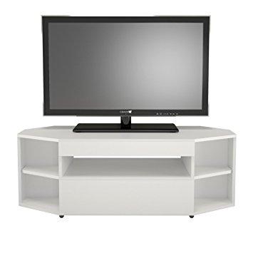 Awesome Trendy Cornet TV Stands Within Amazon Nexera 226103 Blvd Corner Tv Stand White Kitchen (Image 9 of 50)