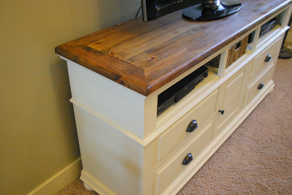 Awesome Trendy Cream Color TV Stands Pertaining To Cottage Frameworks A Home For The Big Screen (Image 11 of 50)