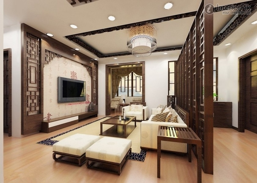 Awesome Trendy Full Wall TV Cabinets Inside Living Room Modern Chinese Interior Living Room Apartment Tv (Image 7 of 50)