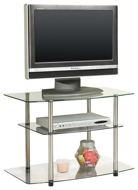 Awesome Trendy Glass TV Stands Throughout Glass Tv Stand Glass Contemporary Entertainment Centers And (Image 9 of 50)