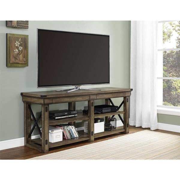 Awesome Trendy Grey Wood TV Stands Throughout Tv Stands Awesome Corner Tv Stands Rustic Rustic Media Stand (Image 8 of 50)