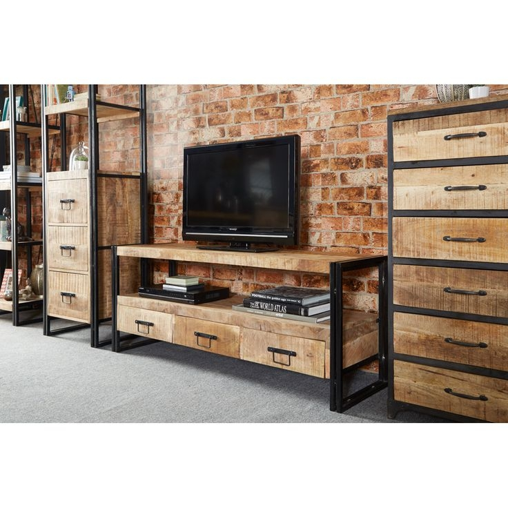 Awesome Trendy Industrial Metal TV Stands Intended For Best 20 Industrial Tv Stand Ideas On Pinterest Industrial Media (Image 4 of 50)
