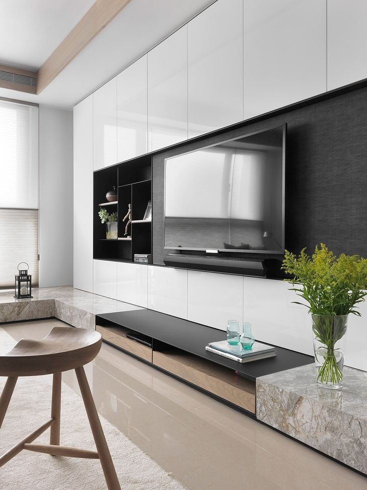 Awesome Trendy Modern TV Cabinets Regarding Best 25 Tv Wall Design Ideas On Pinterest Tv Walls Tv Units (Image 7 of 50)