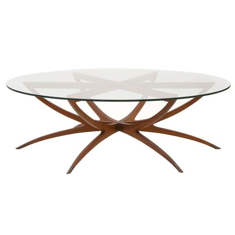 Awesome Trendy Retro Glitz Glass Coffee Tables Throughout Round Wood And Metal Coffee Table Round Glass Coffee Table Wood (Image 8 of 50)
