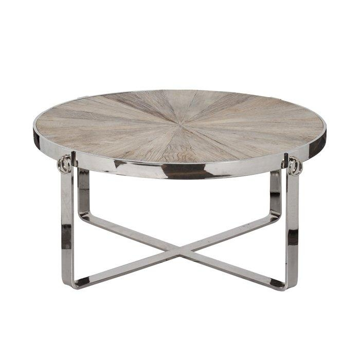Awesome Trendy Round Chrome Coffee Tables In Round Wood Chrome Coffee Table (Image 3 of 50)