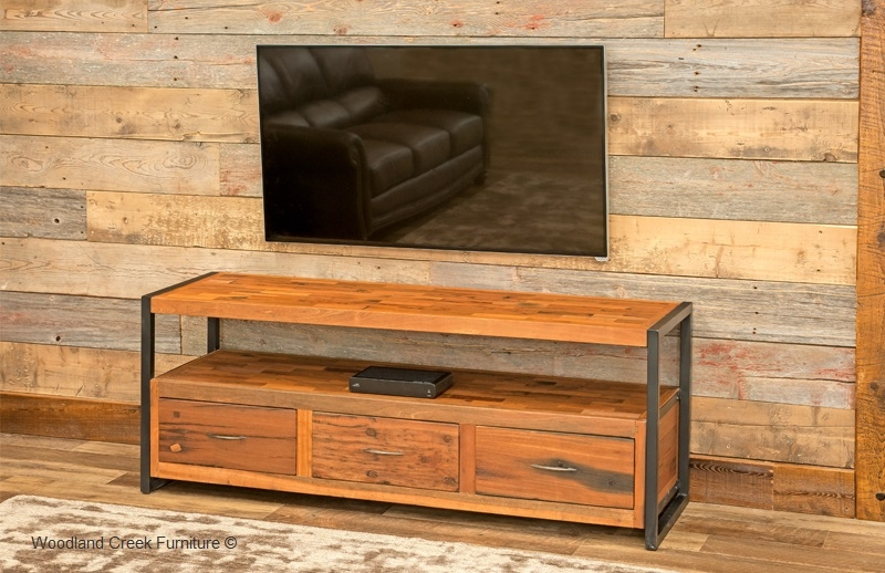 Awesome Trendy Rustic TV Cabinets Intended For Entertainment Cabinets Archives Woodland Creek Furniture (Image 7 of 50)