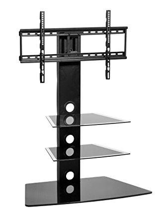 Awesome Trendy White Cantilever TV Stands Throughout Amazon Mmt Furniture Designs Rio Black Tv Stand Glass (View 12 of 50)