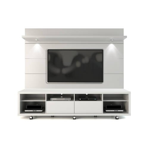 Awesome Trendy White Gloss TV Stands Intended For White Gloss Tv Stand Floating Wall Tv Panel W22 Led Lights (Image 8 of 50)