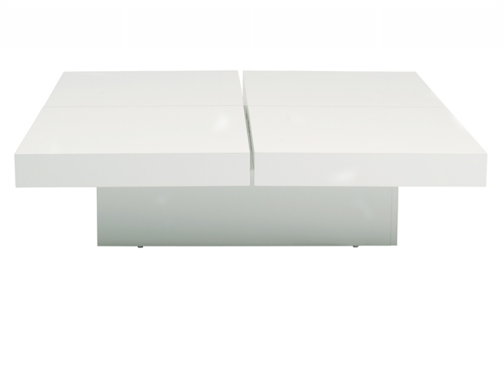 Awesome Trendy White Square Coffee Table Pertaining To Coffee Table Awesome White Square Coffee Table Design Ideas (Image 3 of 50)
