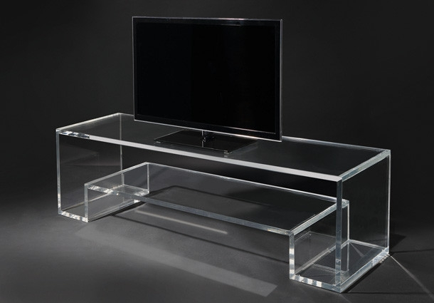 Awesome Unique Acrylic TV Stands Within Design Of The Day Beautiful Acrylic Tv Stand (Image 5 of 50)