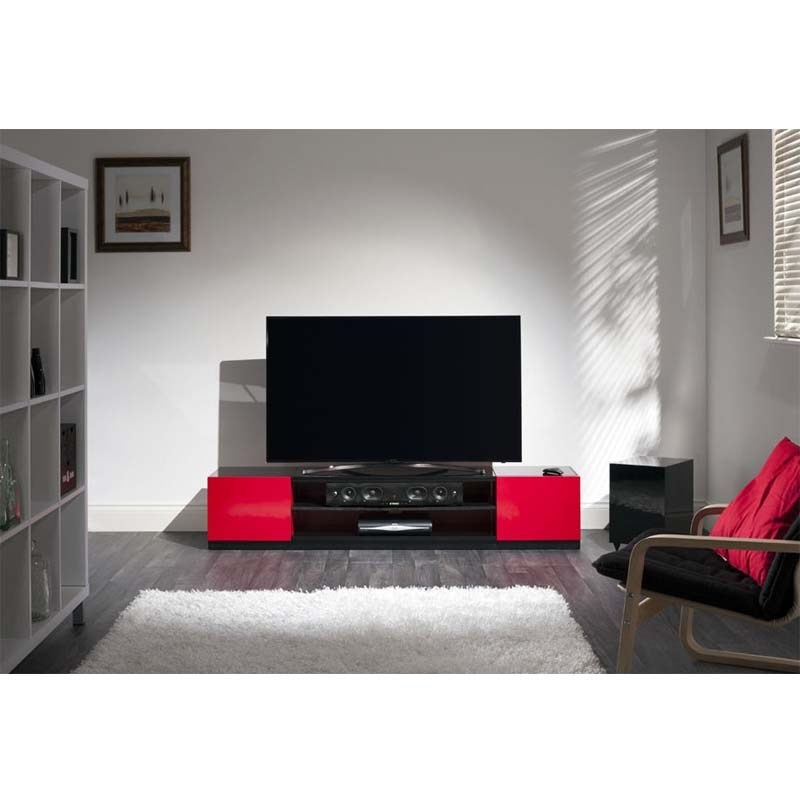 Awesome Unique Black And Red TV Stands With Black And Red Tv Stand Home Design Ideas (Image 9 of 50)