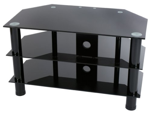 Awesome Unique Black Glass TV Stands With Regard To Levv Glass Stand For Plasma Lcd Tv Up To 37 Inch Or 40kg Black (Image 13 of 50)