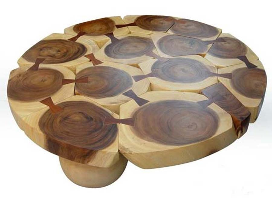 Awesome Unique Coffee Tables Solid Wood In Nice Solid Wood Round Coffee Table (Image 12 of 50)