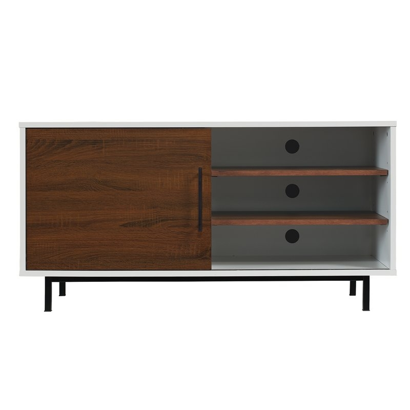 Awesome Unique Compact Corner TV Stands Throughout White Tv Stands Youll Love Wayfair (Image 14 of 50)