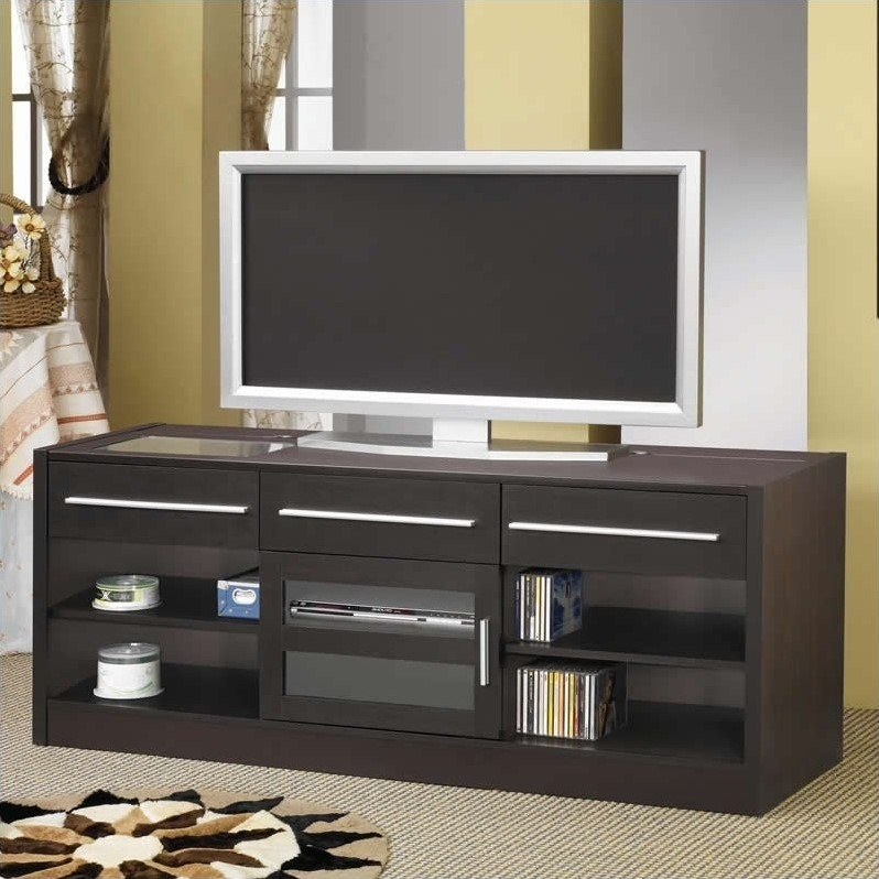 Awesome Unique Contemporary TV Stands Intended For Coaster Tv Stands Contemporary Tv Console With Connect It Power (Image 10 of 50)