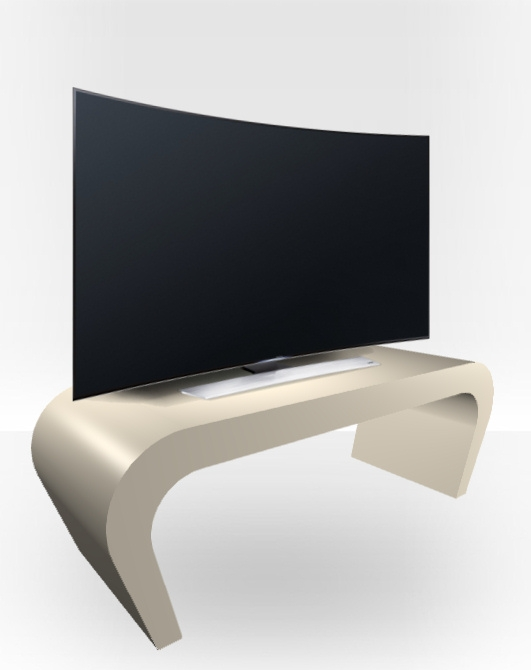 Awesome Unique Cream Gloss TV Stands Inside Cream Gloss Tv Stand Wedge Free Uk Delivery Zespoke (View 28 of 50)