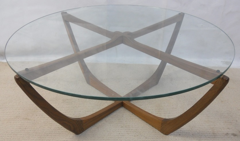 Awesome Unique Retro Glass Top Coffee Tables In 1960 S Circular Glass Top Coffee Table Sold (View 8 of 40)