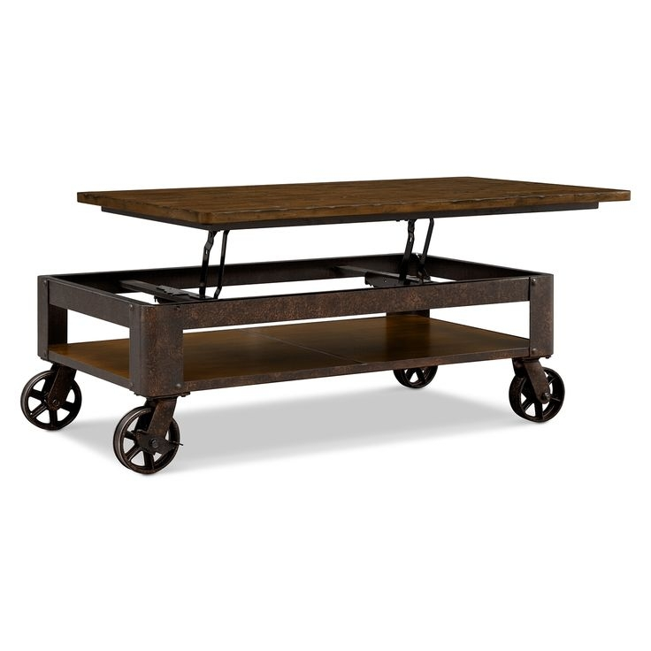 Awesome Unique Rustic Coffee Table With Wheels Throughout Best 25 Rustic Coffee Tables Ideas On Pinterest House Furniture (Image 7 of 50)