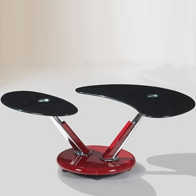 Awesome Unique Torino Coffee Tables Within Torino Red And Black Glass Coffee Table Robson Furniture (Image 6 of 40)