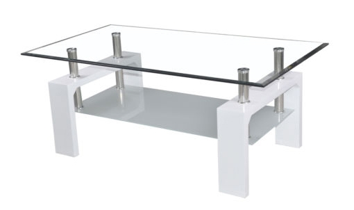 Awesome Unique White And Glass Coffee Tables Pertaining To White Glass Coffee Table (View 28 of 40)