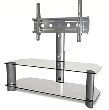 Awesome Unique White Glass TV Stands Throughout Guide To Various Tv Stand Designs Types Studiopsis (Image 11 of 50)