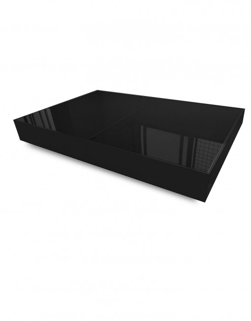 Awesome Variety Of Black Glass Coffee Tables  Pertaining To Glass Box Coffee Convertible Furniture Expand Furniture (Image 10 of 50)