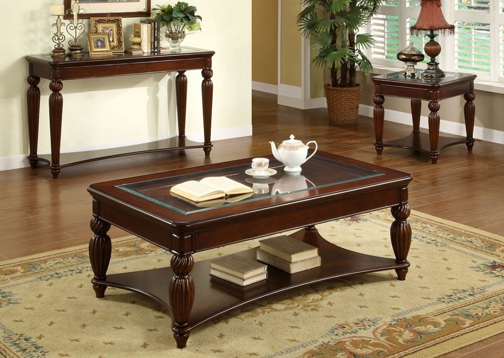 Awesome Variety Of Cherry Wood Coffee Table Sets Within Top Cherry Wood Coffee Table Cherry Wood Coffee Table With Metal (Image 10 of 50)
