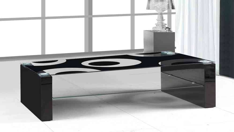 Awesome Variety Of Dark Glass Coffee Tables In Black Glass Black High Gloss Coffee Table Homegenies (Image 12 of 50)