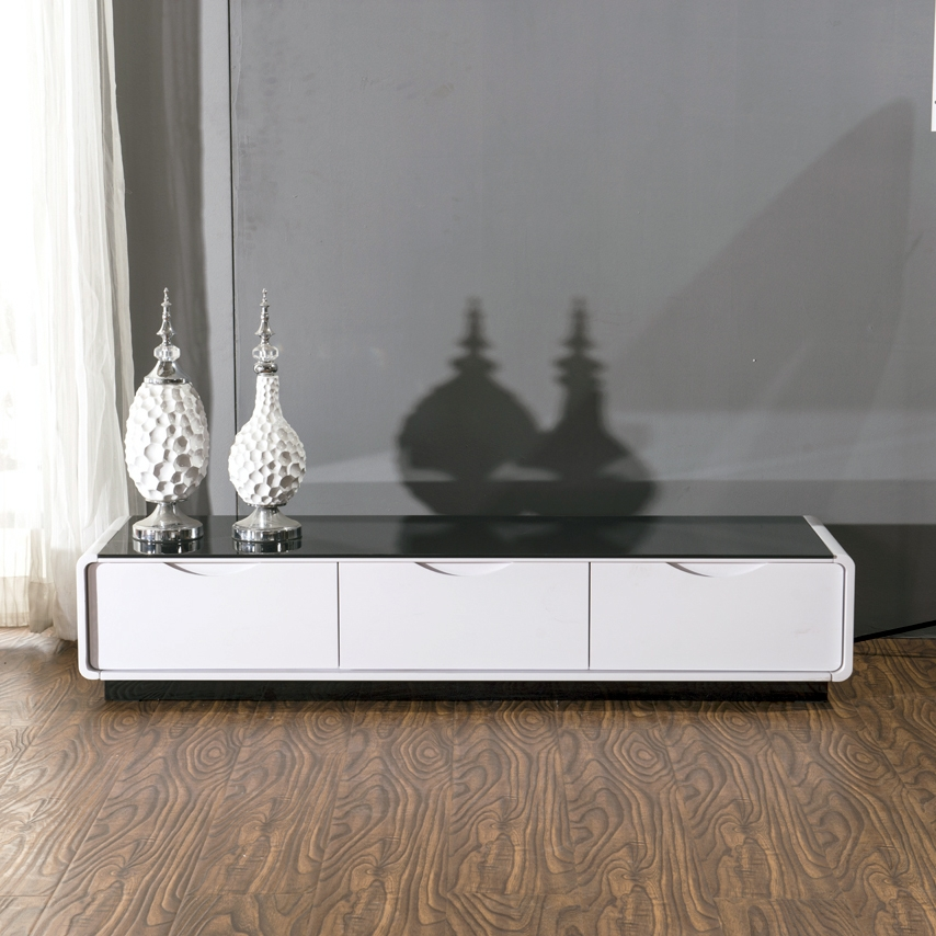 Awesome Variety Of Glossy White TV Stands Intended For Bathroom Elegant White Tv Stand Buy Standcheap Standswhite Lacquer (Image 6 of 50)