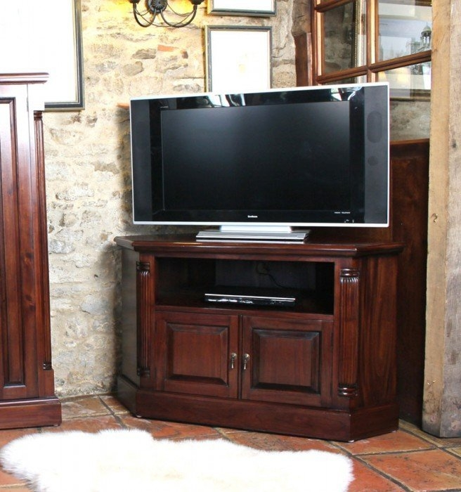 Awesome Variety Of Mahogany TV Stands  Within La Roque Corner Mahogany Tv Cabinet Imr09b (Image 9 of 50)
