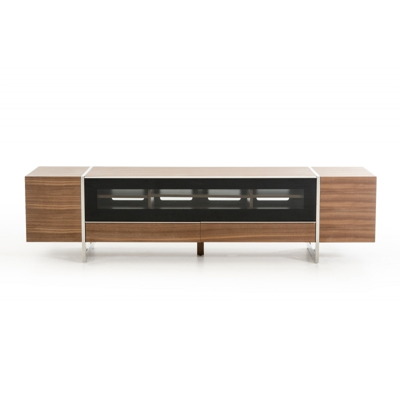 Awesome Variety Of Modern Walnut TV Stands Pertaining To Buy The Modrest Lorena Modern Walnut Tv Stand Vig Furniture (View 20 of 50)