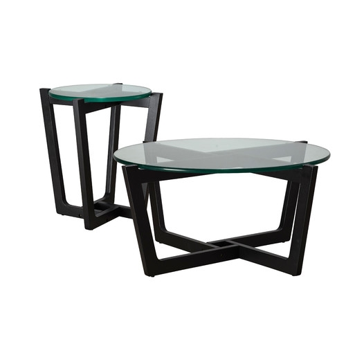 Awesome Variety Of Monterey Coffee Tables Throughout Monterey Black Leg Coffee Side Table Set Temple Webster (Image 8 of 50)