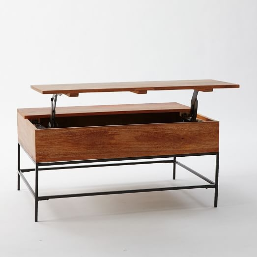 Awesome Variety Of Raise Up Coffee Tables For Industrial Storage Coffee Table West Elm (Image 6 of 40)