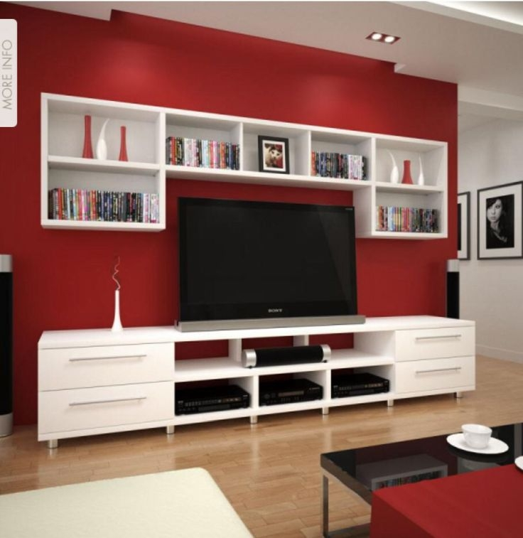 Awesome Variety Of Red TV Cabinets Inside Best 20 White Tv Ideas On Pinterest White Tv Cabinet Colours (Image 10 of 50)