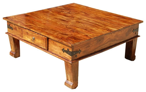 Awesome Variety Of Rustic Coffee Table Drawers For Rustic Solid Wood Square Drawer Sofa Cocktail Coffee Table (Image 7 of 50)