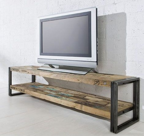 Awesome Variety Of Sleek TV Stands Regarding Best 10 Reclaimed Wood Tv Stand Ideas On Pinterest Rustic Wood (Image 11 of 50)
