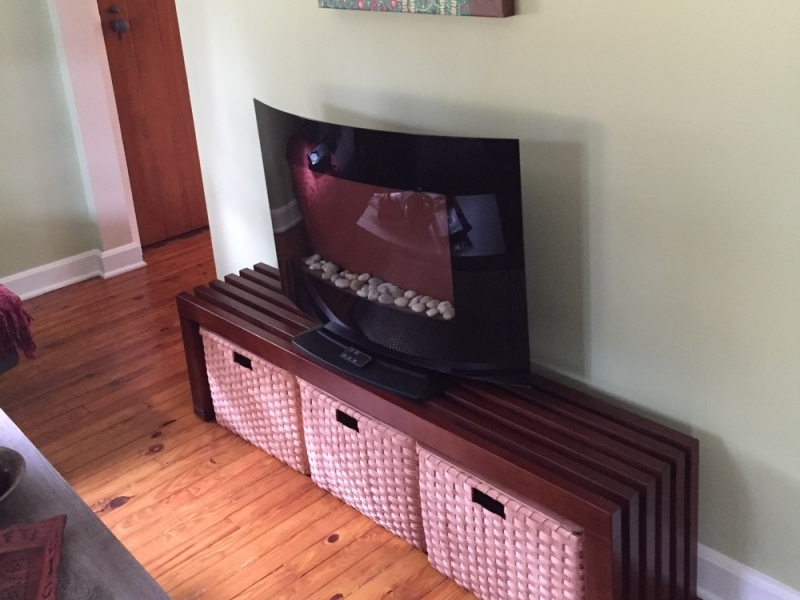 Awesome Variety Of TV Stands With Baskets With Custom Projects Joannas Collections Country Home Basketry (Image 10 of 50)
