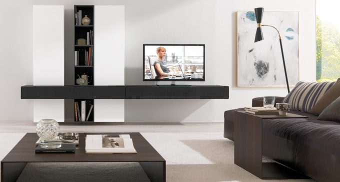 Awesome Variety Of Wall Mounted TV Stands With Shelves Throughout Ideas Modern Living Room Storage Design With Nice Wall Mounted Tv (Image 8 of 50)