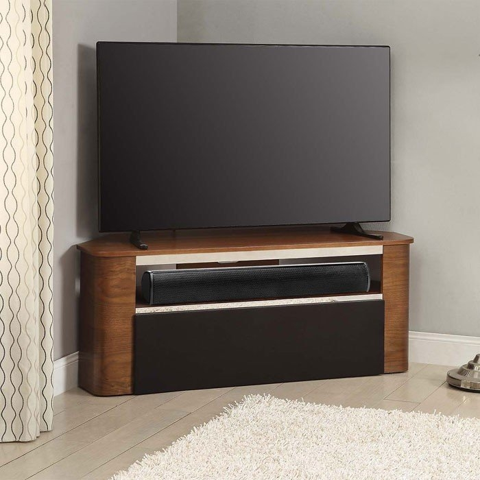 Awesome Variety Of Walnut Corner TV Stands With Regard To Curve Jf708 Walnut Tv Stand Suitable For Use With Soundbars (Image 7 of 50)