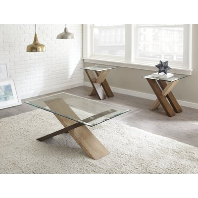 Awesome Well Known 2 Piece Coffee Table Sets Throughout Ivy Bronx Cotaco 2 Piece Coffee Table Set Reviews Wayfair (View 17 of 50)