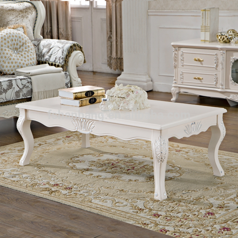 Awesome Wellknown Baroque Coffee Tables Pertaining To Ivory White Hand Carved Wooden Baroque French Furniture Coffee (View 14 of 50)