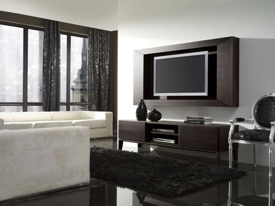 Awesome Well Known Black TV Cabinets With Doors Inside Furniture Astonishing Furniture For Living Room Decoration With (Image 9 of 50)