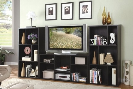 Awesome Wellknown Bookshelf Tv Stands Combo Regarding Stand With Bookshelves Idi Design Image 9