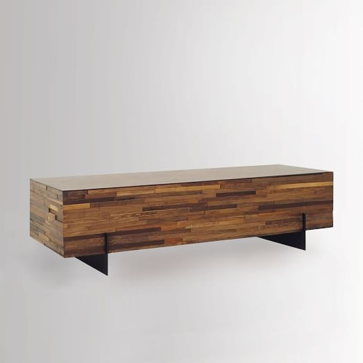 Awesome Wellknown C Coffee Tables Throughout Mixed Wood Coffee Table West Elm (Image 8 of 50)